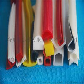 u型耐高温硅胶密封条橡胶顶泡防撞硅胶条保护硅胶密封