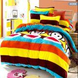 秋冬加厚天絲棉法萊絨套件珊瑚絨被套毛毯法蘭絨4四件套 特價批發