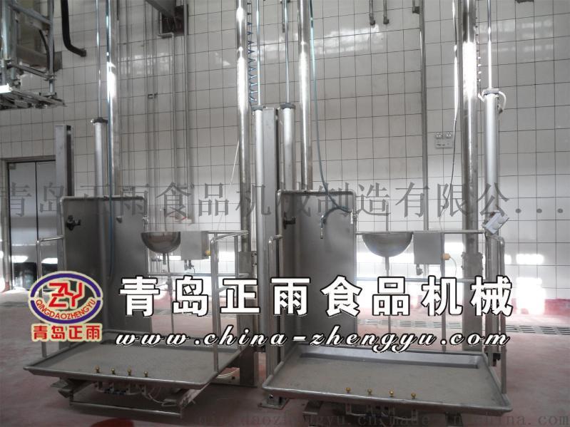 青島正雨供應牛屠宰設備單雙柱升降臺