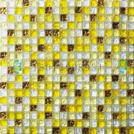 重庆江北区中式现代高质量的米黄色水晶玻璃马赛克背景墙瓷砖堂碧馨厂家直销批发