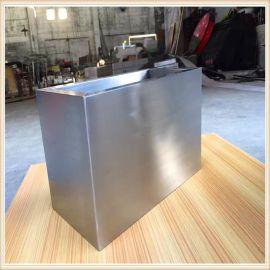 廠家直銷方形不鏽鋼大花盆,戶外不鏽鋼花桶,不鏽鋼大花盆供應商