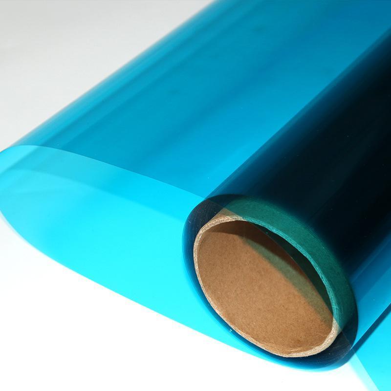 销售玻璃彩色装饰膜双透蓝色玻璃防爆膜太阳膜