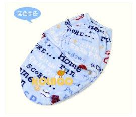 新款 超柔 法莱绒单层印花毯子 襁褓 睡袋 宝宝