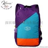 拼色尼龙双肩背包定制|深圳专业生产尼龙背包工厂|撞色品牌背包