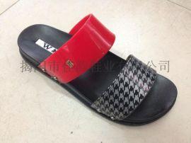 厂家供应女款时尚夏季坡跟拖鞋