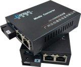 双电口百兆光纤收发器HS1402-SSC-25 光电转换器