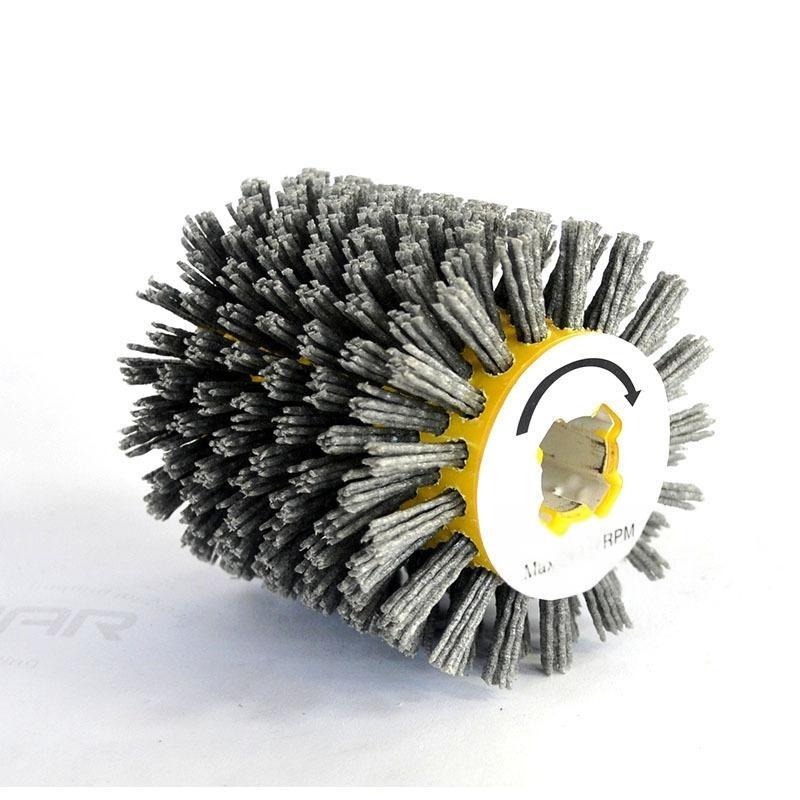 厂家直销十字胶磨料抛光轮碳化硅滚刷平行轮刷工业毛刷100*100