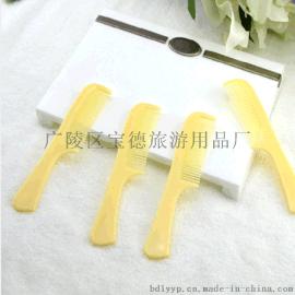 供应客房一次性梳子 香蕉梳厂家定制