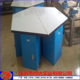 厂家直销六角台定做钳工六角带落地柜操作台不锈钢台面