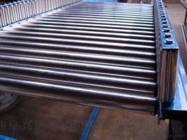 双层动力滚筒输送线铝型材 倾斜输送滚筒