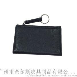定制头层牛皮零钱包卡包真皮短款钱包多功能硬币包