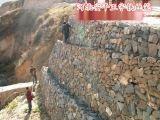 階梯式防護格賓籠擋牆|鎮江石籠擋土牆護坡|防止山體滑坡石籠護墊|石籠擋牆廠家