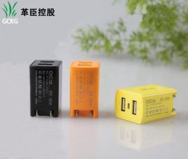 2.1A 1A2口USB充电头,双USB手机旅行充电器