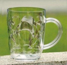 550ml透明,马克杯,冷水杯, 塑料啤酒杯