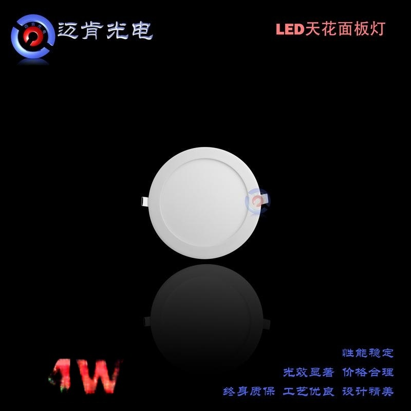 網店代理廠家直銷新款4WLED面板燈經濟款環保小圓平板燈天花燈ER