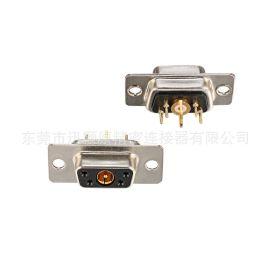 混装D-SUB 同轴射频,5W1母同轴射频插板,d-sub连接器,厂家批发