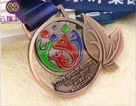 专业定制马拉松金属奖牌 运动会比赛奖牌 立体奖牌生产厂家