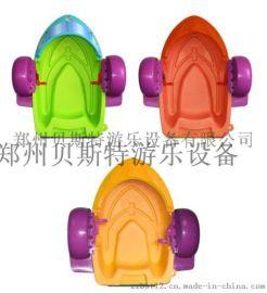 广东深圳大型支架游泳池水上手摇船小巧可爱惹人喜爱