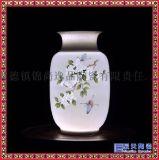 景德鎮陶瓷半刀泥手繪玲瓏花瓶擺件和爲貴客廳電視櫃裝飾品