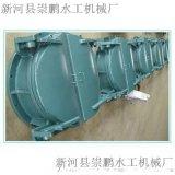 优质鱼塘专用铸铁拍门,水利铸铁拍门厂家