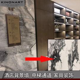 樹脂板酒店櫃臺木飾面別墅會所家具裝飾板材