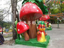 大型游乐园出入口奇幻乐园玻璃钢门头雕塑