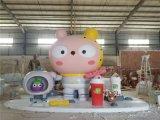 西湖七夕活动摆件玻璃钢卡通公仔雕塑装饰