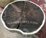 水泥仿樹皮圓木年輪步道板