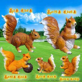 园林摆件花园庭院装饰工艺品创意动物雕塑树脂小品仿真爬树**鼠
