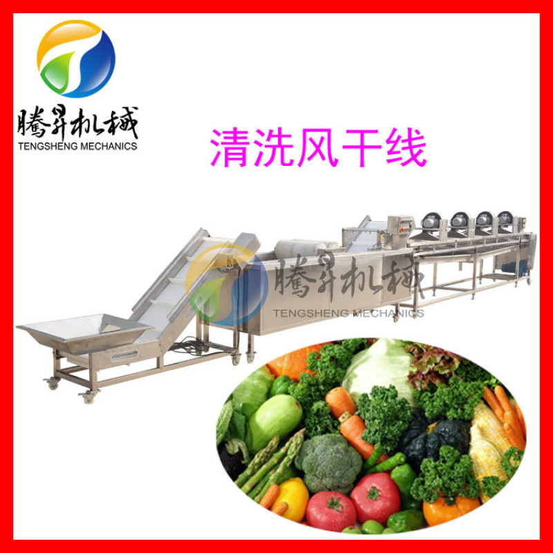 果蔬切割清洗风干生产线,彩椒清洗风干机