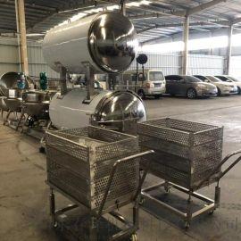 不锈钢材质杀菌锅 肉制品高温高压杀菌锅 玉米杀菌锅