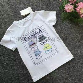 一二线品牌【巴拉巴拉】纯T恤童装品牌折扣童装走份