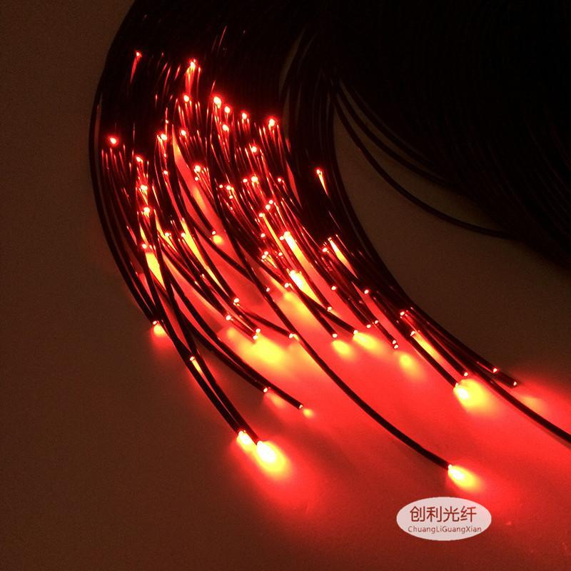 MMA黑皮光纤芯2.5外3.5mm导光尾端泳池地埋照明塑料光纤灯景观灯