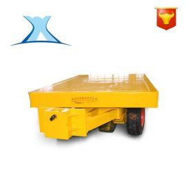 短途装卸胶轮拖车 无动力人工手推平板运输拖车 物料转运过跨小车