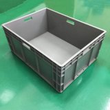 廠家批發800-600-330塑料帶蓋食品週轉箱密封箱 長方形藍色週轉筐