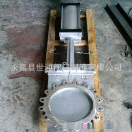 厂家供应不锈钢气动刀型闸阀,梅花型排渣阀