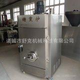 供應自動薰雞肉片機器不鏽鋼天然氣加熱環保節能性糖薰爐設備包郵