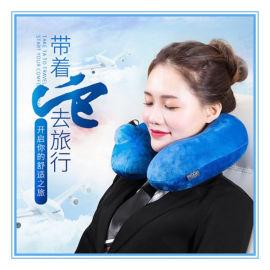 户外旅行充气护颈枕加工厂