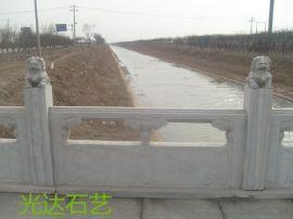 制作景观桥汉白玉栏杆、芝麻灰石材护栏