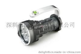 6颗 L2高亮手提探照灯 6000流明户外探照手提灯