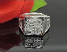 厂家纯银批发S990纯银戒指吉祥男士戒指民族风银戒指时尚8克