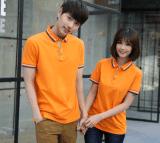 文化衫工作服厂家货源翻领广告衫定制 可定做指定颜色翻领T恤
