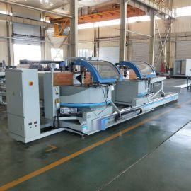 铝工业型材数控重型任意角双头切割锯铝型材锯切设备