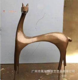 玻璃钢雄鹿雕塑 玻璃钢雌鹿主题动物雕塑定制 玻璃钢户外园林雕塑