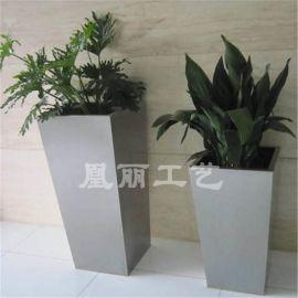 不锈钢哑光面花盆花箱 方形花箱定制厂家 金属不锈钢花箱花盆花器