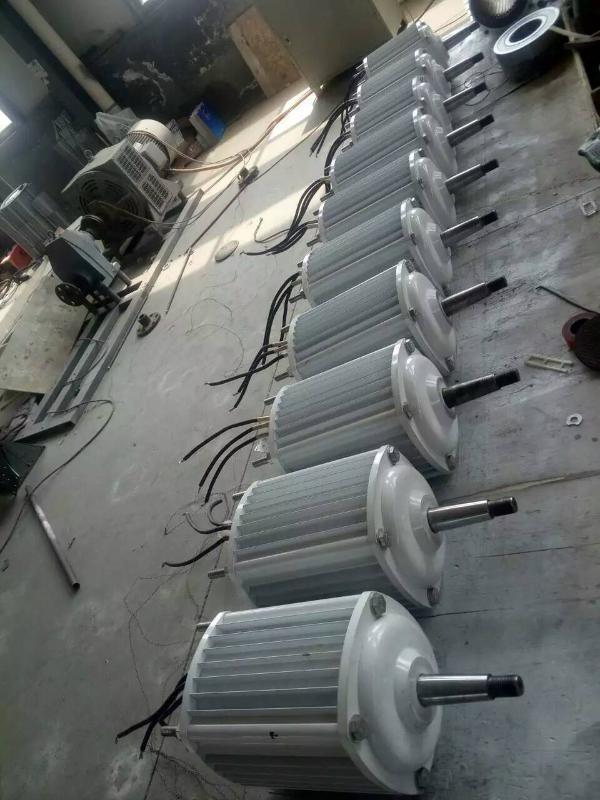 水平轴小型永磁风力发电机1kw48v家用风光互补系统风力发电系统