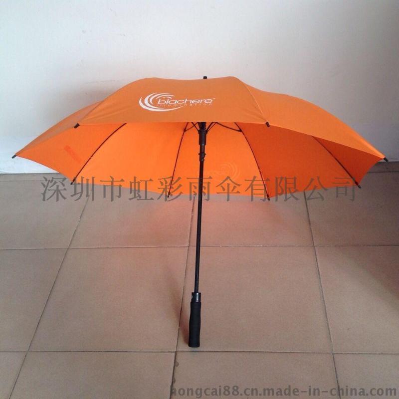 深圳雨伞 厂家直销27寸全纤维骨高尔夫伞