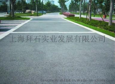 廠家直銷 瀘州園林人行道廣場藝術透水混凝土地坪施工價格|材料批發
