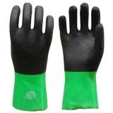 雙色浸膠手套 PVC防酸鹼手套 磨砂處理防油耐磨