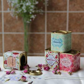 厂家定做马口铁盒茶叶铁罐 长方形食品铁盒 四色印刷饼干罐